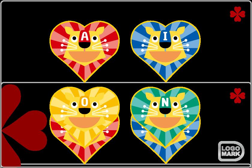 ロゴマーク・パーソナルロゴ_制作例,ロゴデザイン,ブランドマーク,キャラクター,オシャレ,かわいい,かっこいい,品がある,デザイン,Logo,Mark,toru chang,あいおん保育園,大阪,堺