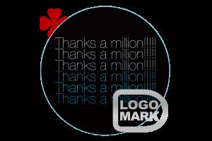 ロゴマーク・パーソナルロゴ_制作例,ロゴデザイン,ブランドマーク,キャラクター,オシャレ,かわいい,かっこいい,品がある,デザイン,Logo,Mark,toru chang,Thanks-a-million,個人ブログ