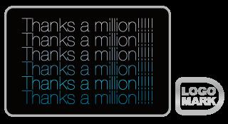 Thanks-a-million_ロゴデザイン,ブランドマーク,キャラクター,オシャレ,かわいい,かっこいい,品がある,デザイン,Logo,Mark,toru chang,個人ブログ